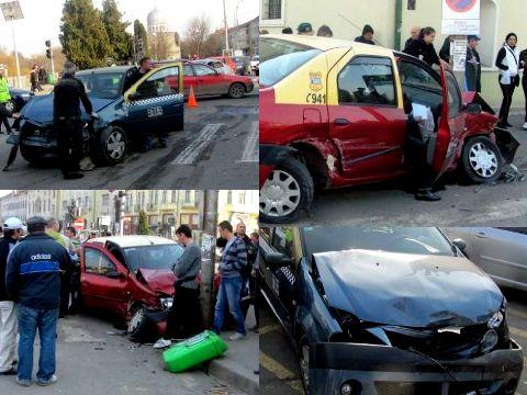 Un taximetrist a facut-o de oaie langa Primaria Oradea