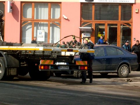 Oradea: sofer pilos = masina neridicata