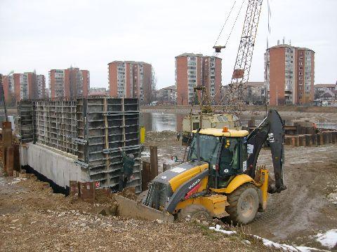 Noul pod rutier din Oradea, la 4 luni de la startul santierului - FOTO/VIDEO